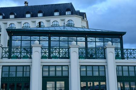 Trouville sur Mer, France - september 27 2019 : the picturesque city center