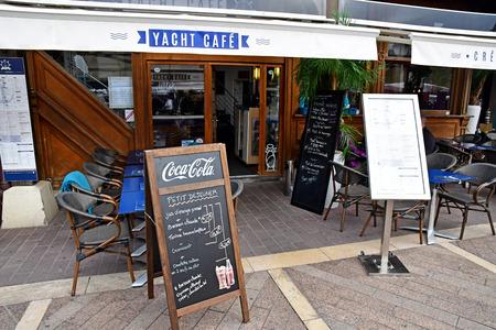 Deauville, France - september 27 2019 : a restaurant Editöryel