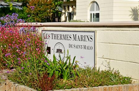 Saint-Malo ; France - 28 juillet 2019 : les thermes marins de saint malo Éditoriale