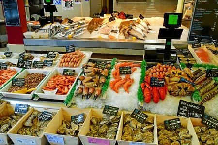Trouville sur Mer, France - september 27 2019 : the famous fish market