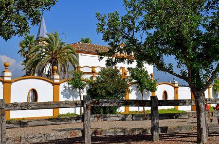 Sevilla; Isla Minima, Spain - august 26 2019 : an house near the guadalquivir river