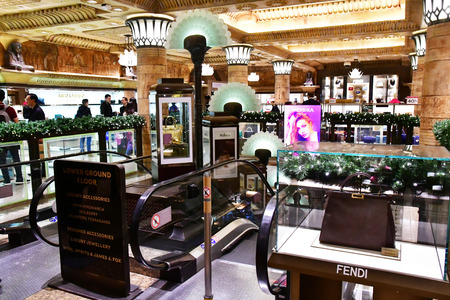 London, England - december 23 2017 : Harrod s, the most important department store in London