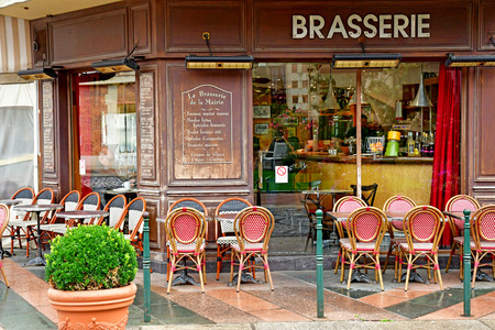 Deauville, France - september 27 2019 : a restaurant in the city centre Editorial