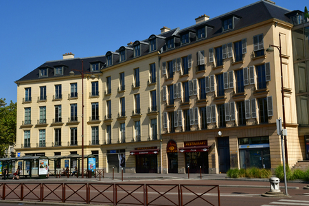 Versailles, France - september 2 2018 : the city hall district near the castle Editorial