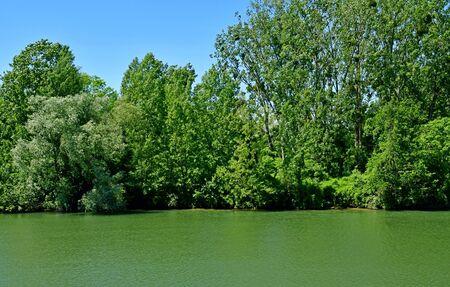 Cergy; France - june 2 2019 : Oise riverside Stock fotó