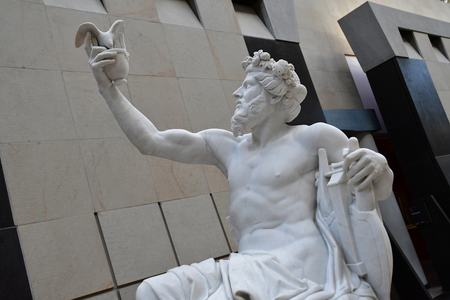 Paris; France - novembre 22 2019 : statue of Anacreon by Eugene Guillaume in the Orsay museum