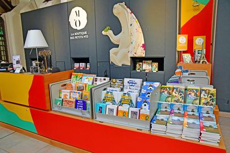 Paris; France - novembre 22 2019 : souvenir shop in the Orsay museum