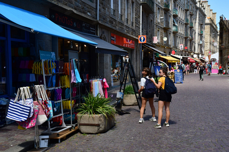 Saint Malo; France - july 28 2019 : store in the picturesque city