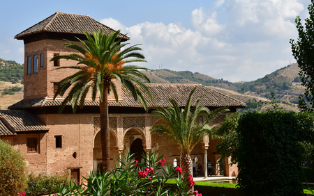 Granada; Spain - august 27 2019 : the Partal palace in the Alhambra palace