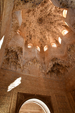 Granada; Spain - august 27 2019 : hall of Abencerrajes in the Alhambra palace Editorial
