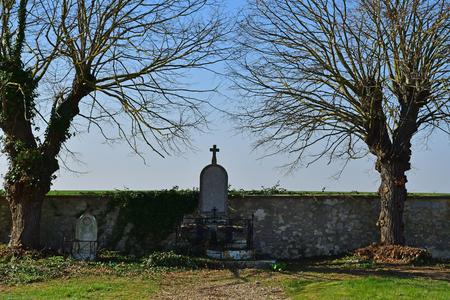 Sagy; France - march 22 2019 : the cemetery Редакционное
