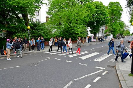London; Westminster, England - may 6 2019 : the Abbey Road crossing