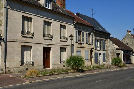 Magny en Vexin , France - august 8 2018 : the city center