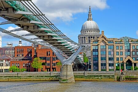 London; England - may 5 2019 : Thames river cruise in the city centre Stok Fotoğraf