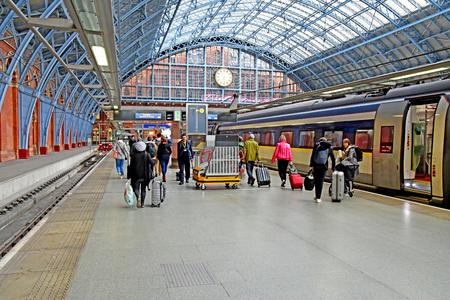 London, England - may 1 2019 : the Saint Pancras station