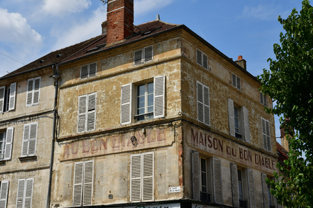 Magny en Vexin , France - july 27 2017 : the picturesque city