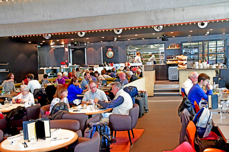 Paris; France - may 1 2019 : L Etoile du Nord, the Thierry Marx restaurant in the Paris Nord station