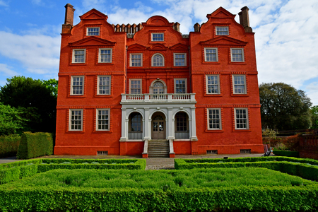 London; Kew, England - may 5 2019 : the Kew Palace in the Kew Royal Botanic Gardens