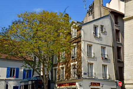 Mantes la Jolie; France - april 12 2019 : the city centre