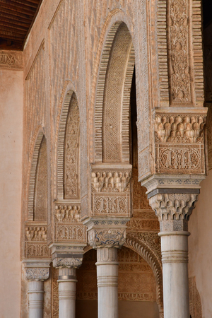 Granada; Spain - august 27 2019 : palace of the ambassadors in the Alhambra palace