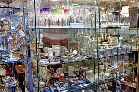 Versailles; France - april 20 2019 : the antique dealer district in the Notre Dame district