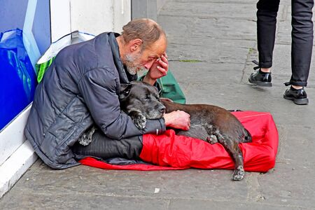 London, Greenwich; England - may 5 2019 : homeless people in the city centre