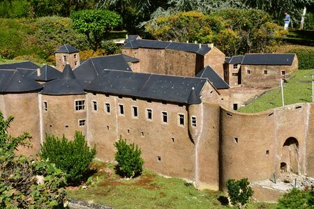 Elancourt; France - september 15 2019 : the fortress of Sedan in the France Miniature scale model park