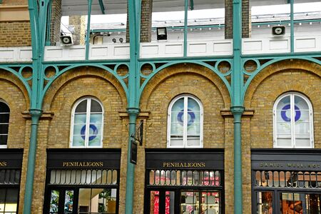 London, England -  may 3 2019 : the piazza market in the Covent Garden district
