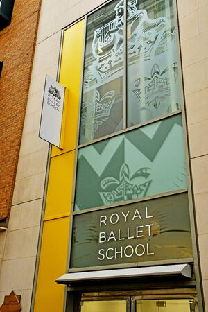 London, England -  may 3 2019 : the Royal Ballet School in the Covent Garden district