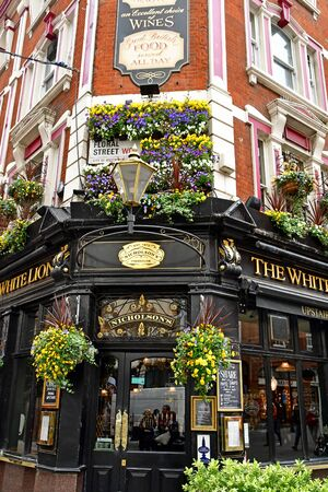 London, England -  may 3 2019 : the White Lion pub in the Covent Garden district