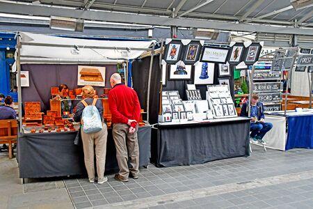 London, Greenwich; England - may 5 2019 : the Greenwich market Redakční