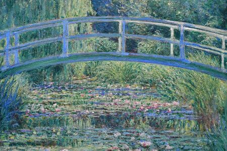 London, England -  may 3 2019 : the National Gallery. The Water Lily Pond by Monet 1899 Redakční