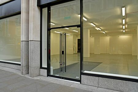 London, England -  may 3 2019 : empty shop in the Covent Garden district