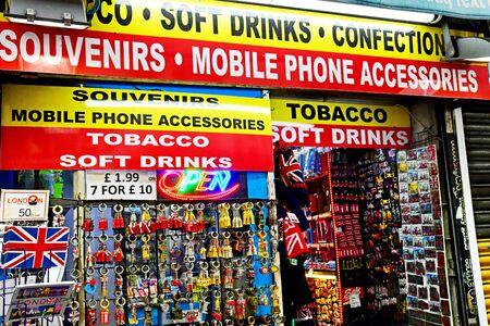 London, England -  may 3 2019 : souvenir shop in the Covent Garden district
