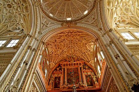 Cordoba; Spanien - 28. August 2019 : die Moschee-Kathedrale