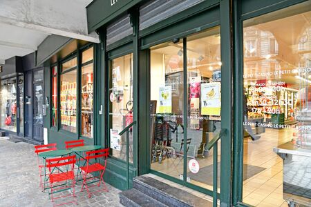 Aras, France - january 24 2020 : convenience store in the Taillerie street