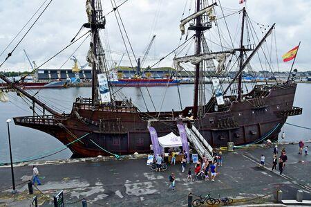 Saint Malo; France - july 28 2019 : El Galeon, a spanish boat Editorial