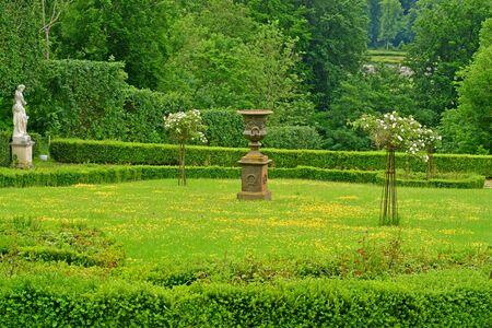 Villarceaux, France - june 9 2019 : the historical castle park Reklamní fotografie