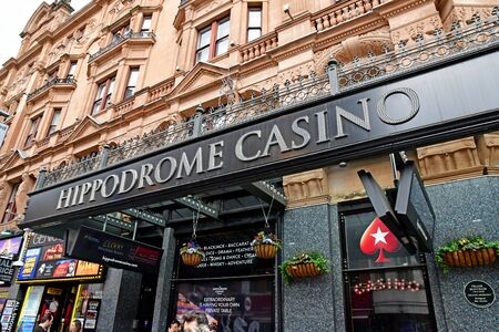 London, England - may 3 2019 : the hippodrome casino in the Leicester Square district