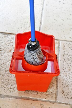 a mop sweeper to clean the floor