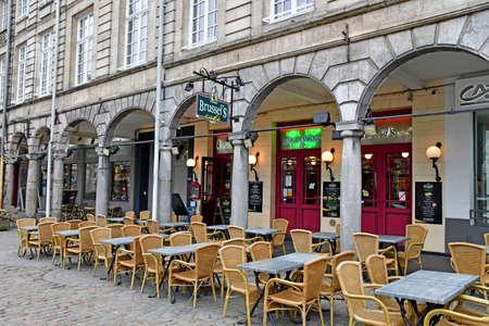 Arras, France - january 24 2020 : a bar rue Taillerie