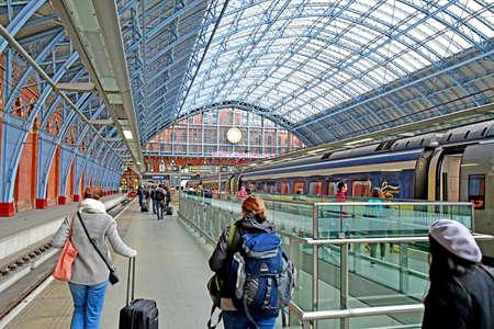 London, England - may 1 2019 : the Saint Pancras station Editorial