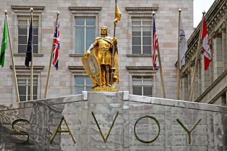 London; England - may 3 2019 : the savoy hotel on The Strand Editoriali