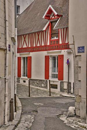 Mantes la Jolie, France - june 13 2018 : the city in summer