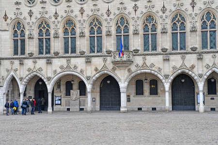 Aras, France - january 24 2020 : the city hall on the Place des Heros Sajtókép
