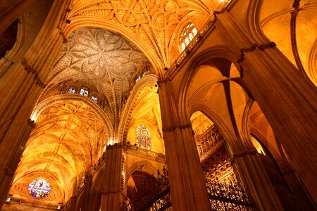 Seville; Spain - august 28 2019 : the historical cathedral