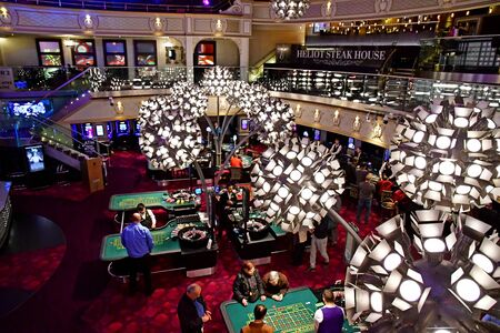London, England -  may 3 2019 : the hippodrome casino in the Leicester Square district Imagens