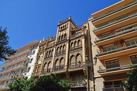 Seville; Spain - august 28 2019 : the historical city centre Archivio Fotografico