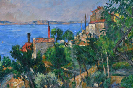 London, England -  may 3 2019 : the National Gallery . The sea at l Estaque by Cezanne 1876 Éditoriale
