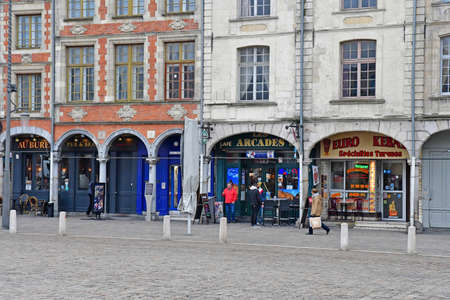 Aras, France - january 24 2020 : kebab in the Place des Heros
